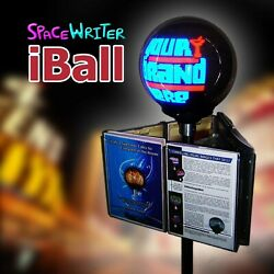 Iball Brochure Flyer Stand 3d Digital Led Signage Spinning Scrolling Pov Pos