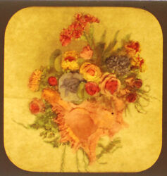 Flower Bouquet Stereoview Tissue--tinted When Lit By Emma Edwards, Baltimore