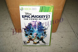 Disney Epic Mickey 2 The Power Of Two Xbox 360 Us Ntsc Version New