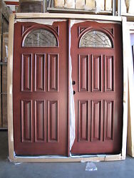 Sale Solid Wood Mahogany Front Unit Pre-hung Andfinished Dmh7104 Pair Of 32 Dbl