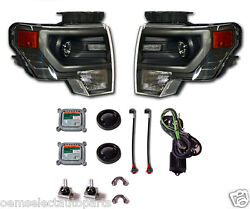 NEW OEM 2009-2013 Ford F-150 GREY HID Headlights - PAIR - Retrofit Kit