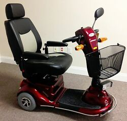 Merits Pioneer 3, S131, 3 Wheel Mobility Electric Scooter, 400 Lb. Cap.