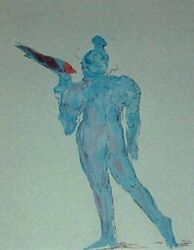 Max Peter Circus Performer With Bird  Print Make Offer