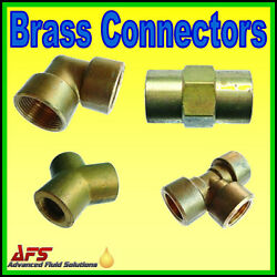 Enots Metric/imperial Brass Compression Pipe Connector Fitting Norgren Fuel Tube