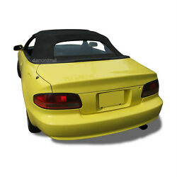 Fits Toyota Celica Convertible Soft Top And Glass Window 1995-2001 Black Cloth