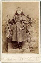 Young Girl With Early Hula Hoop Allentown, Pa Cabinet Photo