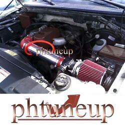 Red 1997-2003 Ford F-150 F150 Pickup 4.2 4.2l Ohv Air Intake Kit Systems