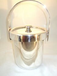 Argente Vintage 1960's Silver Plated Brass Ice Bucket, Italy