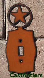 4 Pack: Texas Star Single Light Switch Plate Cover Metal Western Rustic Decor