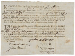 Colonial Currency Ri June 20 1793 Mortgage Bond