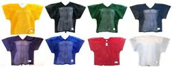 Football Practice Jersey Over Shoulder Pads V Neck Mesh Mens Russell Athletic $19.99