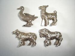 metal figurines set domestic animals