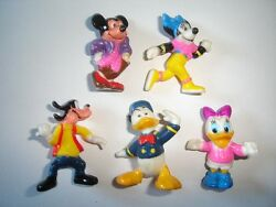 Disney Mickey Mouse And Donald Duck Figurines Set 3 Nestle - Figures Collectibles
