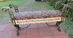 Really Nice Antique Cast Iron Window/fireside Bench C. 1920and039s-30and039s. American.
