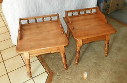 Pair Maple Mid Century Heywood Wakefield End Tables / Side Tables T226