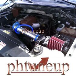 Blue Red 1997-2003 Ford F-150 F150 Pickup 4.2 4.2l Ohv Air Intake Kit Systems