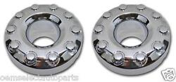 Oem New 2005-2016 Ford F-450, F-550 Front Chrome Center Caps Pair 4wd - 10 Lug
