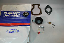 New Johnson Evinrude Oem Outboard Carburetor Kit With Float 398453 Brp Omc