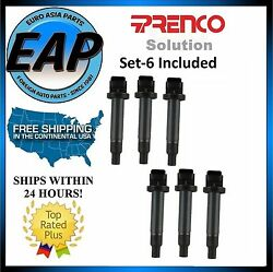 For  ES300 RX300 Avalon Camry Sienna Spark Plug Ignition Coil 6 Set NEW