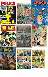 10 Dvds Over 1400 Digital Golden Age Comic Books Quality Comics Pc Mac Android