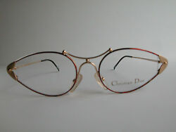 Christian Dior Vintage Eyeglasses- New Old Stock - Model 2818 43 - Gold And Red