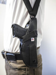 Makarov Feg Pa63 Pa64 R61 9x18 380   Vertical Shoulder Holster W/ Mag Pouch