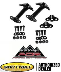 Factory Style Black Jeep Hood Latch Catch PAIR Fits 55 95 Jeep Wrangler and CJ