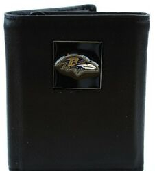 Baltimore Ravens Officially Licensed Nfl Leather Trifold Wallet