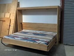 Murphy Panel Side Bed Queen  Do It Yourself Kit  Soft Close Gas Springs