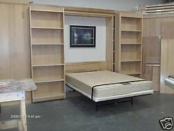Murphy Library Bed Queen Size Cabinet Construction Plans Pics Metal And Hardware