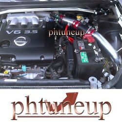Fit 2002-2006 Nissan Altima 3.5 3.5l Se/se-r/sl Cold Air Intake Kit Systems Red
