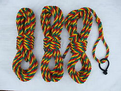 Set Of 3x 14mm Jester Mooring Ropes With Rope Shackle 2 X 10mtr 1 X 12mtr