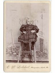 Little Girl In High Chair By Lukehart Apollo Pa Cabinet Photo