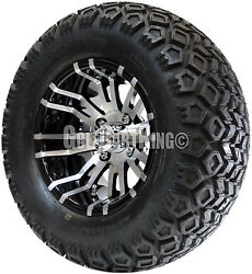 12 Rhox Rx270 Wheel With Tire Combo And Ezgo Golf Cart Lift Kit