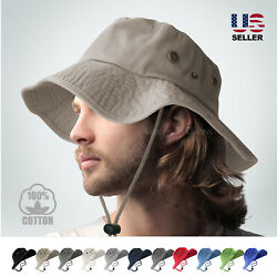 BOONIE BUCKET HAT MILITARY FISHING CAMPING HUNTING WIDE BRIM BUCKET MEN OUTDOOR $11.75