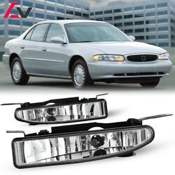 For Buick Century 97-05 Clear Lens Pair Bumper Fog Light Lamp Replacement