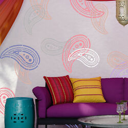 Wall Paisley Stencil for Wall DIY decor and furniture fabrics