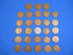 Lincoln Wheat Cent Penny San Fran S Mint Set 1916s-1955s 33 Coins See List
