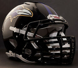 Baltimore Ravens Nfl Riddell Speed Football Helmet With Big Grill S2bdc-ht-lw
