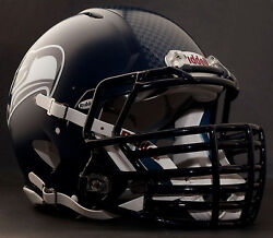 Seattle Seahawks Nfl Riddell Speed Football Helmet With Big Grill S2bdc-ht-lw