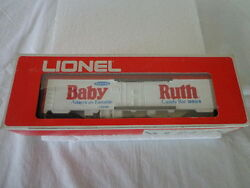 Lionel O And 027 Gauge Baby Ruth Billboard Reefer With Bonus Certificate