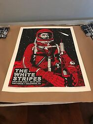 Rob Jones The White Stripes Art Poster Print Jack White Inglewood CA Mondo