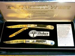 Boker Stag Trapper 1969 Limited Edition Gold Plated 447 Promontory Summit Utah