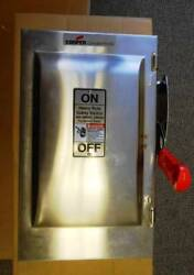 Cooper Wsrd63542sms Heavy Duty Stainless Steel 3p 60a 600v-250vdc Safety Switch