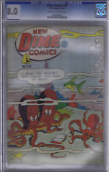 Dime Comics 30 Bell Features Pub.1946 Cgc 8.0 Very Fine,rare Canadian Edition