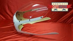 Cafe Racer Fairing With Clear Screen And Headlight Bubble Rickman / Avon Style