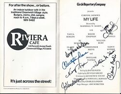 Christopher Reeve Superman Psa/dna Signed My Life Playbill Certified Autograph