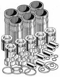 Out Of Frame Engine Overhaul Rebuild Kit For Caterpillar 3406. Pai 340666-037