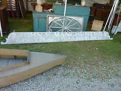 Late 19th Century One Board Sign 13'l John Manchester Contractor Portsmouth Ri