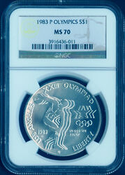 1983 P Olympic Commemorative Silver Dollar Coin 1 Ngc Ms 70